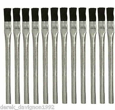 """12 pc ACID BRUSHES 3/8"""" BRUSH 6"""" LONG  CLEANING PAINT GLUE MADE IN USA!!"""