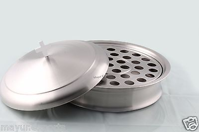 Stainless Steel Communion Tray Holds 40 with Lid - Matte Finish -Holy Communion