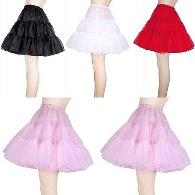 New Short Vintage Petticoat Crinoline Underskirt Tutu Wedding Dress Skirt Slips