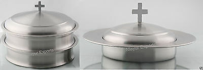 2 Communion Tray set with Lid & 1 Bread Plate with Lid- FREE SHIP RELIGIOUS EDH