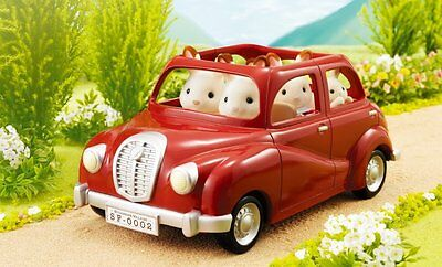 Sylvanian Families ❤ Outing Family Car V-01 Red From Japan (Calico Critters)