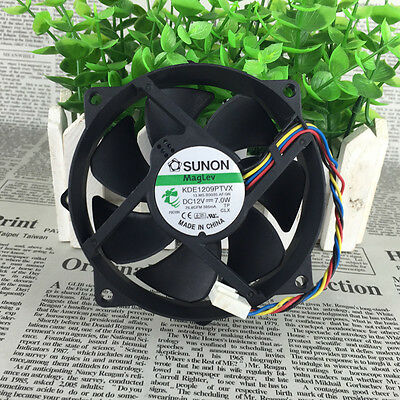 Sunon KDE1209PTVX  12V 7.0W 4Pin 90/80mm x25mm  CPU Round Cooling Fan