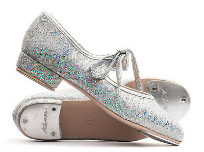 Girls Ladies All Colours Glitter Low Heel Tap Dance Shoes By Katz Dancewear
