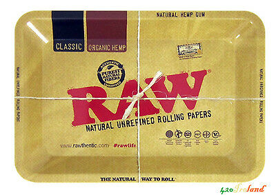 RAW Rolling Tray Small Original High Quality Metal Herb Weed Tobacco  18 x 11 cm