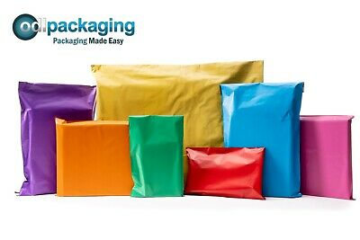 Coloured Polythene Plastic Mailing Postal Packaging Bags Smaller Quantities