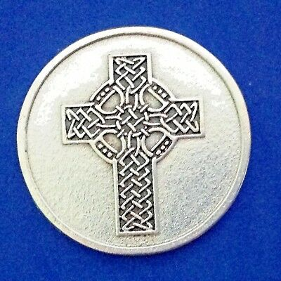 Rare Celtic Cross Irish Pocket Token Saint Medal May You Live a Hundred Years