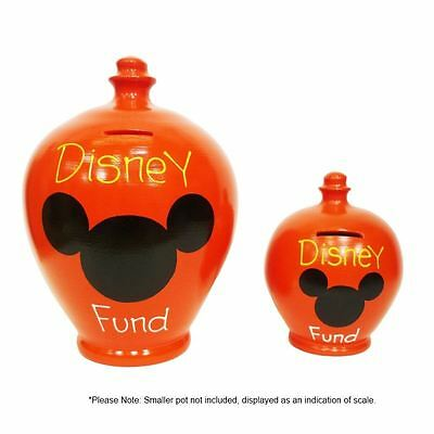 New Terramundi Deluxe Money Pot Red with Disney Fund written in Yellow and White