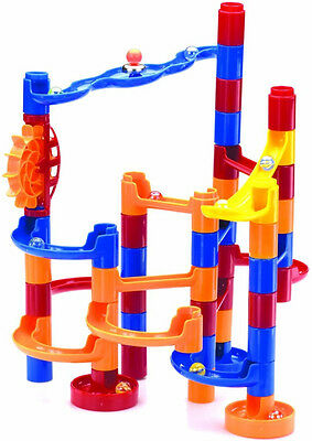 Marble Maze 57 Piece Building Set The Original Toy Company Tube, Marbles, Paddle