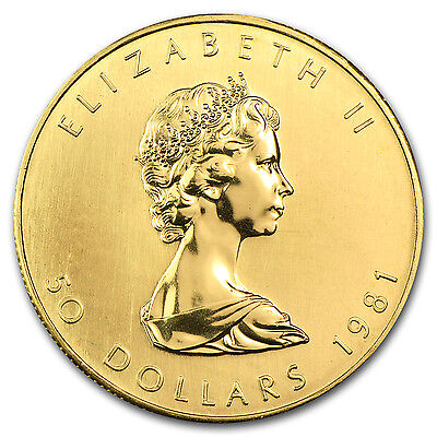 1981 Canada 1 oz Gold Maple Leaf BU - SKU #74651