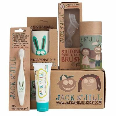 Jack n Jill Bunny Kids Baby Organic Oral Care Gift Set Toothbrush/Toothpaste/Bag