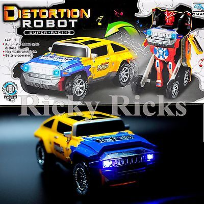 Transformers Toy Car Light Up Truck Musical Sounds Bump and Go Autobot Robot