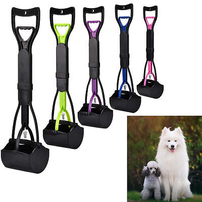 60cm Long Handle Portable Dog Pet Pooper Scooper Poop Scoop Clean Pick Up