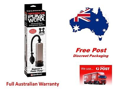 Power  Pump Penis Erection Aid with Ring plus Mr.Thick & Lube Samplers (Smoke)