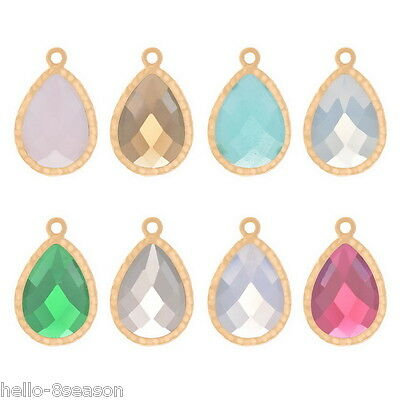 1PC Gold Plated Drop Charm Pendants Jeweley Making Connectors Findings