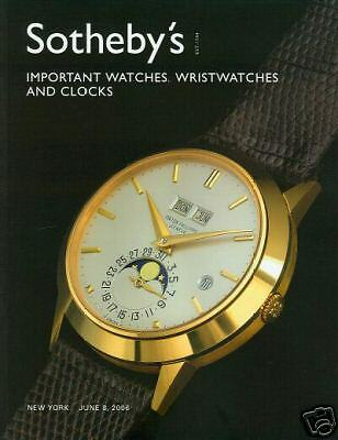 Sotheby's Catalogue Important Watches, Wristwatches & Clocks 2006 HB