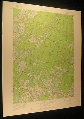 Wareham Mass. Spectacle Pond Brandy Hill 1959 antique color lithograph map