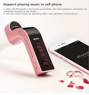 USB Handsfree Bluetooth Car Kit Charger MP3 Player FM Transmitter SD LCD Display