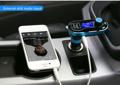Universal 12V Dual USB Car Cigarette Lighter Charger FM AUX TF Audio MP3 Player