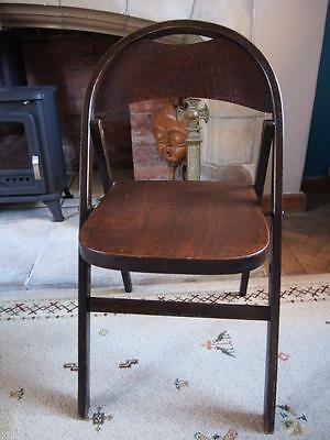 Beautiful Rare Old Antique Folding Bentwood Chair/Deckchair Crocodile Effect