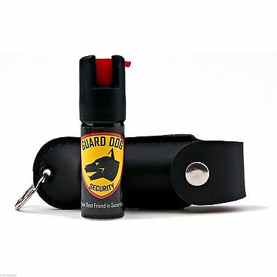 Pepper Spray STRONGEST By LAW and EBAY 18% OC key chain - With LEATHER CASE