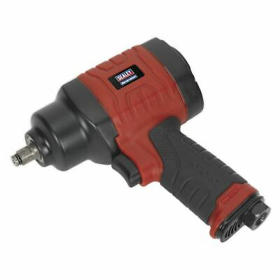 """Sealey GSA6000 Composite Air Impact Wrench 3/8""""Sq Drive Twin Hammer"""