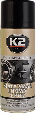 K2 | Teflon (PTFE) Lubricant Spray | Long Lasting Lubrication white grease 400ml