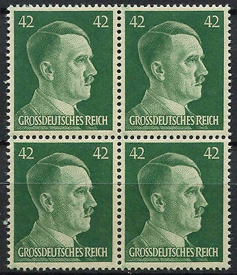 Germany Third Reich 1944 SG#894, 42pf Emerald Green Adolf Hitler MNH Block#D5879
