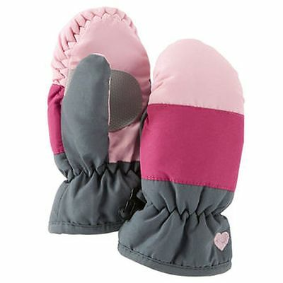 New OshKosh Ski Gloves Winter Mittens size 2T-4T Kid Girl NWT Pinks and Gray