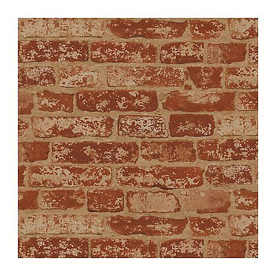 Wall In A Box BZ9206 Stuccoed Wallpaper, Rust Red, Barn Red, Ivory,  DOUBLE roll