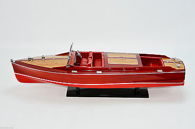"Chris Craft Runabout 32"" - Handcrafted Speedboat Model NEW"