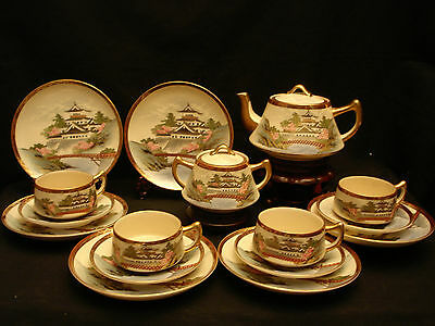 MARKED Shizan JAPANESE TAISHO PERIOD SATSUMA TEA COFFEE SET CUP & SAUCER / PLATE