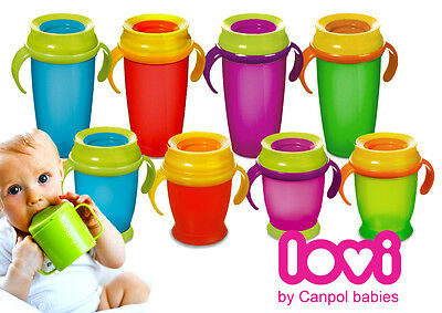 DRINKING CUP LOVI 360 Baby Kids Child Todler Training Learning Non Spill 350ml