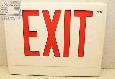 Lithonia Lighting Red Emergency Exit Sign