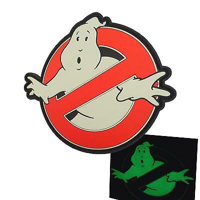 ghostbusters no ghost PVC glow dark rubber cosplay aufnäher touch fastener patch