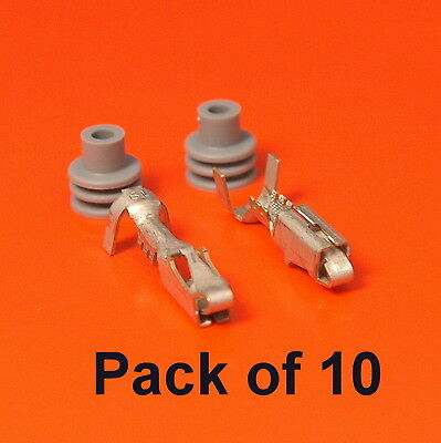 10 x Genuine DELPHI Female Socket Terminals for Metri Pack 280 Sealed Series