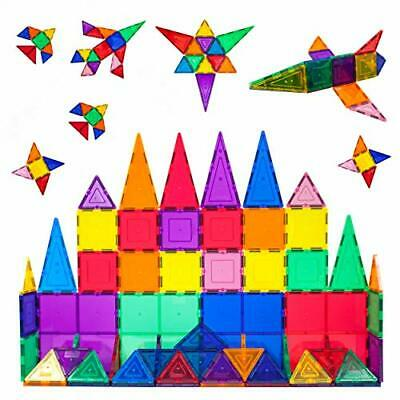 PicassoTiles PT60 60 Piece 3D Color Magnetic Magnet Building Blocks Tiles Set