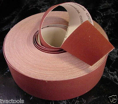 """2"""" X 150 Ft SAND PAPER SHOP ROLL 120 GRIT sandpaper made in USA lathe sheets"""