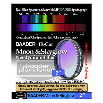 "Baader 2"" Neodymium Moon & Skyglow Filter with IR Cut # FMS-2  # 2458334A"