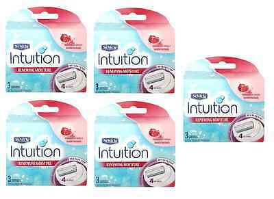 Schick Intuition Renewing Moisture, Pomegranate Extract, 3 Cartridges (5 Pack)