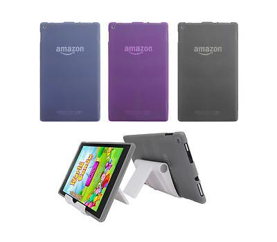 View Stand Holder + TPU Gel Skin Case Cover for Amazon Kindle Fire HD 8 2015