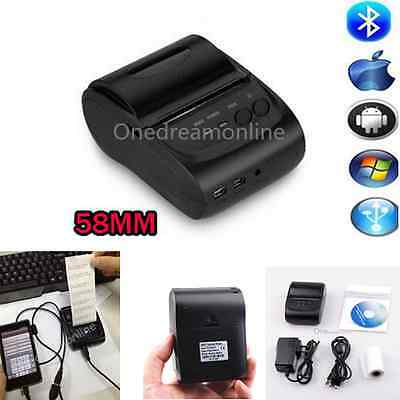 Bluetooth Mini POS Thermal Receipt Printer 384 Line Receipt For Android IOS 58mm