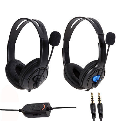 Wired Gaming Headset Headphones with Microphone Mic for Sony PS4 PlayStation 4