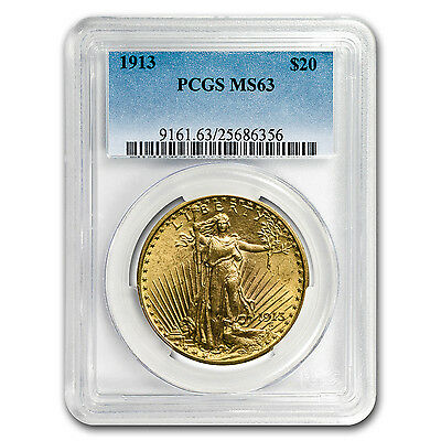 1913 $20 St. Gaudens Gold Double Eagle MS-63 PCGS - SKU #60450