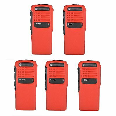 5x Red Replacement Repair Kit Case Housing for Motorola HT750 Portable Radio