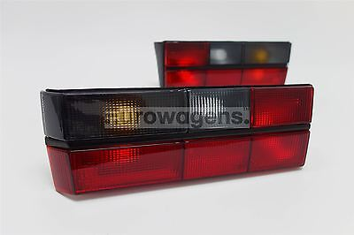 VW Golf MK1 79-83 GTI Smoked Red Rear Tail Lights Lamps Set Pair Left Right