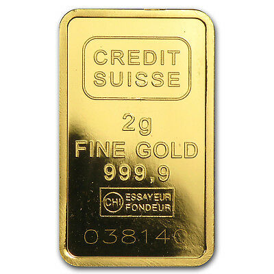 2 gram Gold Bar - Secondary Market - Various Brands - SKU #45506