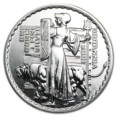2001 Great Britain 1 oz Silver Britannia BU - SKU #11456