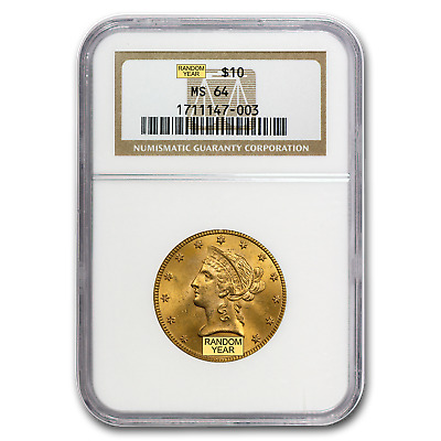 $10 Liberty Gold Eagle MS-64 NGC (Random) - SKU #23198