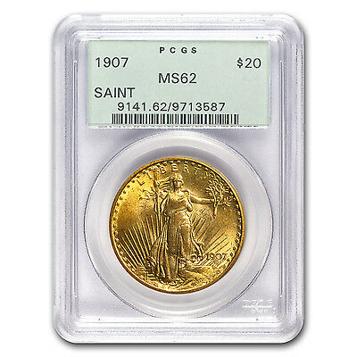 1907 $20 Saint-Gaudens Gold Double Eagle - MS-62 PCGS - SKU #19076