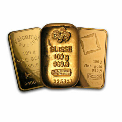100 gram Gold Bar - Secondary Market - SKU #12475